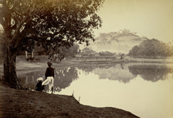 Parbati Hill from the lake [Poona].